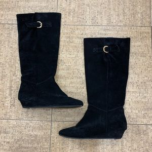 Steven by Steve Madden Intyce Black Suede Boots